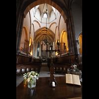 Strasbourg (Straßburg), Saint-Thomas (Chororgel), Chor mit Vierungskuppel und Chororgel