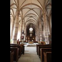 Strasbourg (Straßburg), Saint-Thomas (Chororgel), Hauptschiff in Richtung Orgel