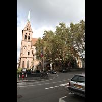 Strasbourg (Straßburg), Saint-Pierre-le-Jeune Protestant, Außenansicht mit Turm vom Place Saint-Pierre-le-Jeune