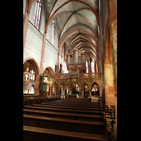 Strasbourg (Straßburg), Saint-Pierre-le-Jeune Protestant, Innenraum in Richtung Chor mit Lettner und Orgel
