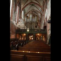 Strasbourg (Straßburg), Saint-Pierre-le-Jeune Protestant, Blick vom Chor auf den Lettner und die Ostseite der Orgel