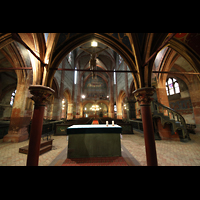 Strasbourg (Straßburg), Saint-Pierre-le-Jeune Protestant, Blick vom Chor durch den Lettner ins Hauptschiff