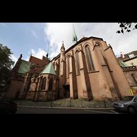 Strasbourg (Straßburg), Saint-Pierre-le-Jeune Protestant, Außenansicht vom Chor aus