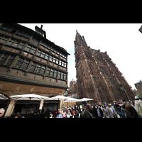 Strasbourg (Straßburg), Cathédrale Notre-Dame - Münster (Hauptorgel), Blick vom Place de la Cathédrale