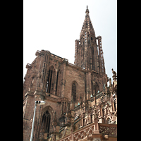 Strasbourg (Straßburg), Cathédrale Notre-Dame - Münster (Hauptorgel), Turm von hinten