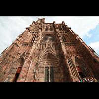 Strasbourg (Straßburg), Cathédrale Notre-Dame - Münster (Kapellenorgel), Fassade perspektivisch