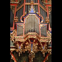 Strasbourg (Straßburg), Cathédrale Notre-Dame - Münster (Hauptorgel), Rückpositiv der Silbermann-Orgel