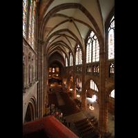 Strasbourg (Straßburg), Cathédrale Notre-Dame - Münster (Hauptorgel), Blick von der Hauptorgel ins Hauptschiff