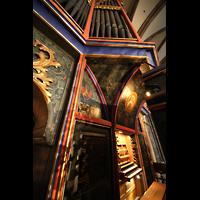 Strasbourg (Straßburg), Cathédrale Notre-Dame - Münster (Kapellenorgel), Silmermann-Orgel mit Spieltisch