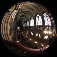 Strasbourg (Straßburg), Cathédrale Notre-Dame - Münster (Kapellenorgel), Hauptorgel und Hauptschiff