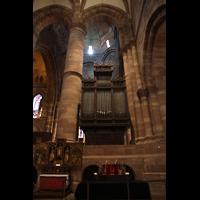 Strasbourg (Straßburg), Cathédrale Notre-Dame - Münster (Hauptorgel), Chororgel vom Chorraum aus gesehen