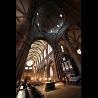 Strasbourg (Straßburg), Cathédrale Notre-Dame - Münster (Kapellenorgel), Hauptschiff, Vierung und Vierungsturm