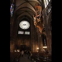 Strasbourg (Straßburg), Cathédrale Notre-Dame - Münster (Kapellenorgel), Hauptschiff in Richtung Westwand