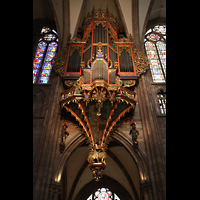 Strasbourg (Straßburg), Cathédrale Notre-Dame - Münster (Kapellenorgel), Silbermann-Orgel
