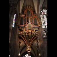 Strasbourg (Straßburg), Cathédrale Notre-Dame - Münster (Kapellenorgel), Schwalbennest-Orgel