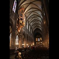 Strasbourg (Straßburg), Cathédrale Notre-Dame - Münster (Kapellenorgel), Hauptschiff in Richtung Chor