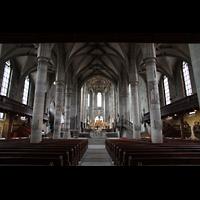Schwäbisch Hall, Stadtpfarrkirche St. Michael (Hauptorgel), Innenraum / Hauptschiff in Richtung Chor