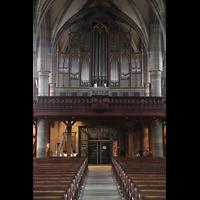 Schwäbisch Hall, Stadtpfarrkirche St. Michael (Hauptorgel), Orgelempore