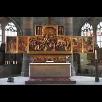 Schwäbisch Hall, Stadtpfarrkirche St. Michael (Hauptorgel), Hochaltar (stellt die Passion und Auferstehung Jesu dar)