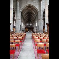 Schwäbisch Hall, Stadtpfarrkirche St. Michael (Hauptorgel), Blick vom Chor zur Orgel