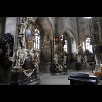 Schwäbisch Hall, Stadtpfarrkirche St. Michael (Hauptorgel), Seitenaltäre und Epitaphe im Chorumgang