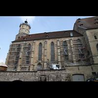 Schwäbisch Hall, Stadtpfarrkirche St. Michael (Hauptorgel), Seintenansicht von außen