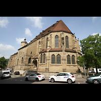 Schwäbisch Hall, Stadtpfarrkirche St. Michael (Hauptorgel), Chorraum und Seitenansicht