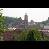 Schwäbisch Hall, Stadtpfarrkirche St. Michael (Hauptorgel), Gesamtansicht vom gegenüberliegendem Ufer der Kocher