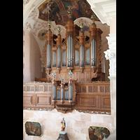 Ebersmunster (Ebersmünster), Église Abbatiale (Abteikirche), Orgel von der Seitenempore aus gesehen