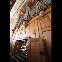 Ebersmunster (Ebersmünster), Église Abbatiale (Abteikirche), Spieltisch und Orgel