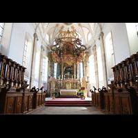 Ebersmunster (Ebersmünster), Église Abbatiale (Abteikirche), Hochaltar und Chorgestühl