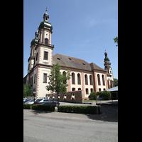 Ebersmunster (Ebersmünster), Église Abbatiale (Abteikirche), Seitenansicht