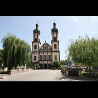 Ebersmunster (Ebersmünster), Église Abbatiale (Abteikirche), Ansicht von vorne