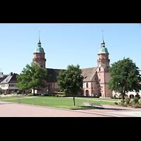 Freudenstadt, Evangelische Stadtkirche (Chororgel), Außenansicht vom Marktplatz aus