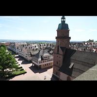 Freudenstadt, Evangelische Stadtkirche (Chororgel), Blick vom Nordturm nach Osten