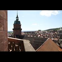 Freudenstadt, Evangelische Stadtkirche (Chororgel), Blick vom Nordturm nach Südosten