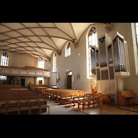 Freudenstadt, Evangelische Stadtkirche (Chororgel), Chororgel und östliches Kirchenschiff