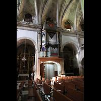 Campanet (Mallorca), Sant Miquel, Orgel an der Seitenschiffwand