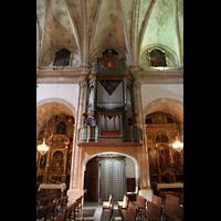 Campanet (Mallorca), Sant Miquel, Orgel mit Seitenschiff