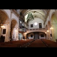 Campanet (Mallorca), Sant Miquel, Innenraum in Richtung Nordwestwand