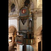 Campanet (Mallorca), Sant Miquel, Orgel von der rückseitigen Empore aus gesehen