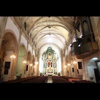 Campanet (Mallorca), Sant Miquel, Innenraum in Richtung Chor