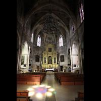 Petra (Mallorca), Sant Pere, Inennraum in Richtung Chor