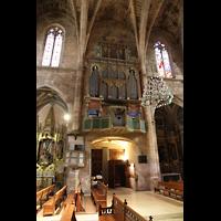 Petra (Mallorca), Sant Pere, Orgel und Seitenschiff