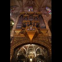 Palma de Mallorca, Catedral La Seu, Orgel mit darunterliegender Kapelle