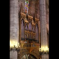 Palma de Mallorca, Catedral La Seu, Orgel seitlich