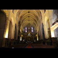 Palma de Mallorca, Convento Sant Francesc, Innenraum in Richtung Chor