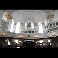 Hamburg, St. Michaelis, ''Michel'' (Krypta-Orgel), Innenraum in Richtung Südempore