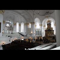 Hamburg, St. Michaelis, ''Michel'' (Krypta-Orgel), Konzertorgel und Chorraum