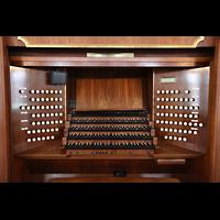 Hamburg, St. Michaelis, ''Michel'' (Krypta-Orgel), Mechanischer Spieltisch der Hauptorgel